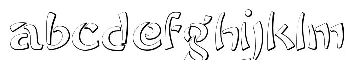 Sayonara Beveled Font LOWERCASE