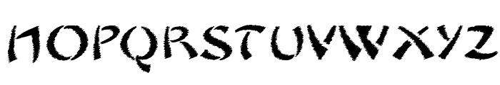 Sayonara Trash Free Font UPPERCASE