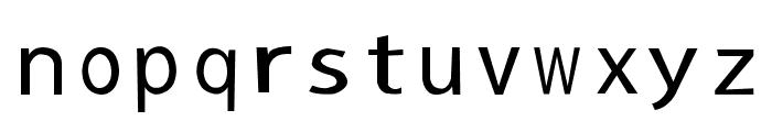 sans Font LOWERCASE