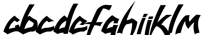 savatage Font LOWERCASE