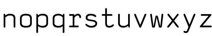 saxMono Font LOWERCASE