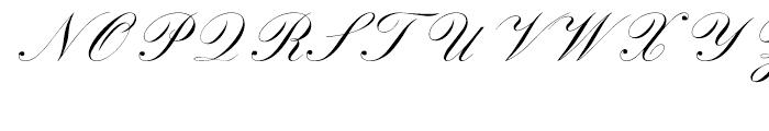 Sackers Script English Script Font UPPERCASE