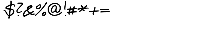Salew Handwriting Regular Font OTHER CHARS