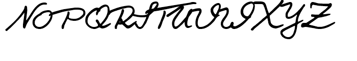 Salew Handwriting Regular Font UPPERCASE