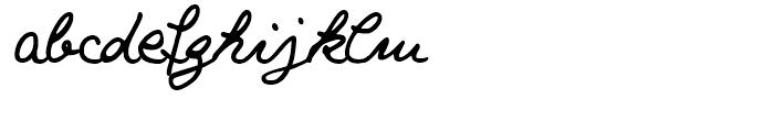 Salew Handwriting Regular Font LOWERCASE