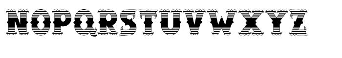Salloon Stripe Ends Font UPPERCASE