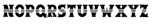 Salloon Stripe Middle Font UPPERCASE