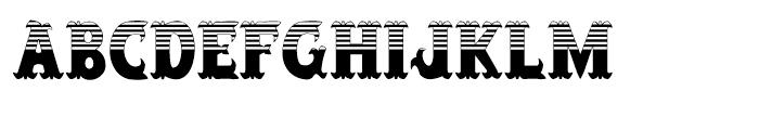 Salloon Stripe Top Font LOWERCASE