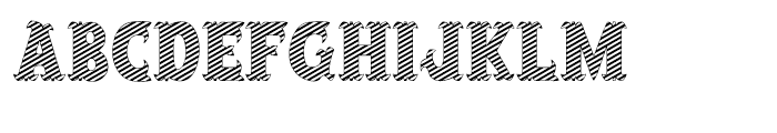 Salloon Striped Font LOWERCASE