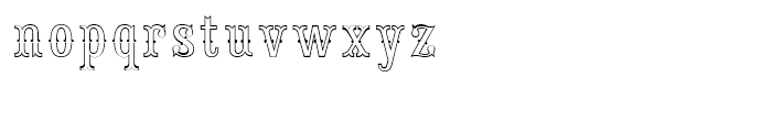 Saloon Girl Fill Lines Font LOWERCASE