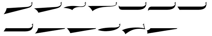 Saloonkeeper Swashes Font LOWERCASE
