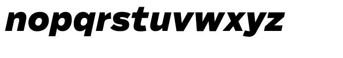 Salvo Sans Black Italic Font LOWERCASE