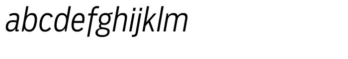 Salvo Sans Condensed Light Italic Font LOWERCASE