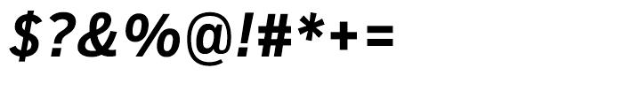 Salvo Sans Condensed Medium Italic Font OTHER CHARS