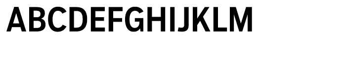 Salvo Sans Condensed Medium Font UPPERCASE