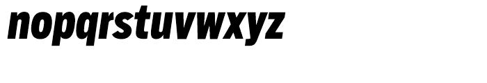 Salvo Sans Extra Condensed Black Italic Font LOWERCASE