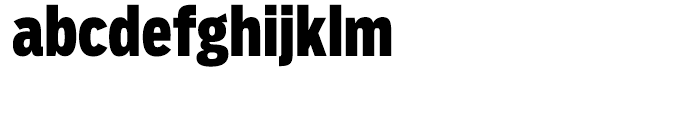 Salvo Sans Extra Condensed Black Font LOWERCASE