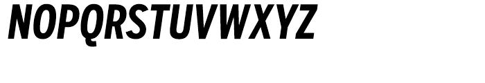 Salvo Sans Extra Condensed Bold Italic Font UPPERCASE