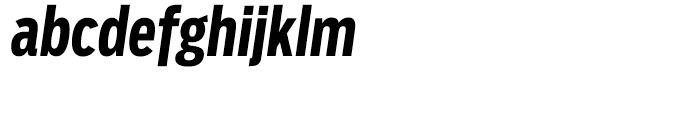 Salvo Sans Extra Condensed Bold Italic Font LOWERCASE
