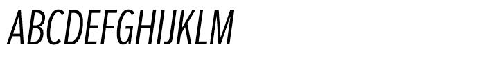 Salvo Sans Extra Condensed Light Italic Font UPPERCASE
