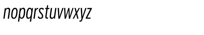 Salvo Sans Extra Condensed Light Italic Font LOWERCASE