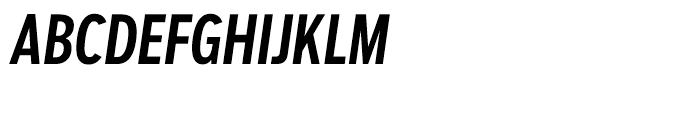Salvo Sans Extra Condensed Medium Italic Font UPPERCASE