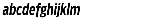 Salvo Sans Extra Condensed Medium Italic Font LOWERCASE
