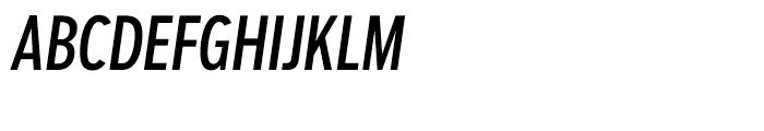 Salvo Sans Extra Condensed Regular Italic Font UPPERCASE