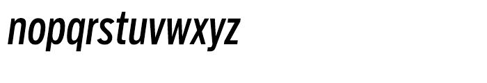 Salvo Sans Extra Condensed Regular Italic Font LOWERCASE