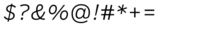 Salvo Sans Light Italic Font OTHER CHARS
