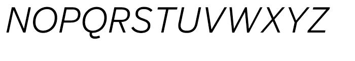 Salvo Sans Light Italic Font UPPERCASE