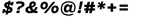 Salvo Serif Bold Italic Font OTHER CHARS