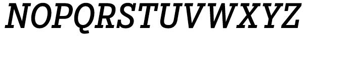 Salvo Serif Condensed Regular Italic Font UPPERCASE