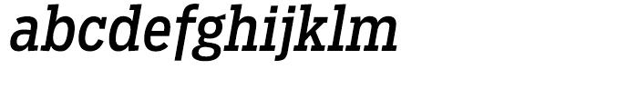 Salvo Serif Condensed Regular Italic Font LOWERCASE