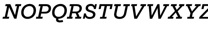 Salvo Serif Regular Italic Font UPPERCASE