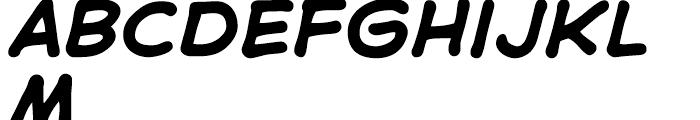 Samaritan Lower Intl Bold Italic Font UPPERCASE