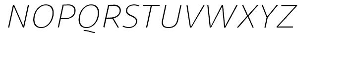 Sana Sans Light Italic Font UPPERCASE