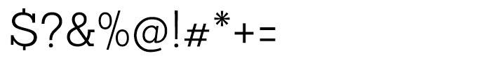 Sanchez Slab Light Font OTHER CHARS