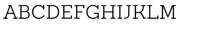 Sanchez Slab Light Font UPPERCASE