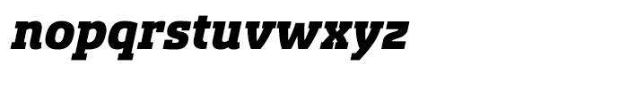 Sancoale Slab Norm Black Italic Font LOWERCASE