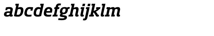 Sancoale Slab Norm Bold Italic Font LOWERCASE
