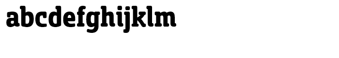 Sancoale Slab Soft Condensed Bold Font LOWERCASE