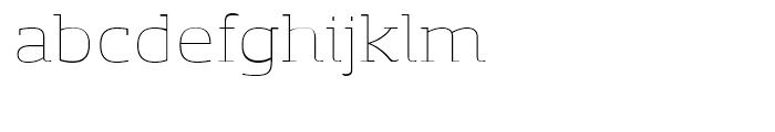 Sancoale Slab Soft Extended Thin Font LOWERCASE