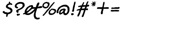 Sanguine Italic Font OTHER CHARS