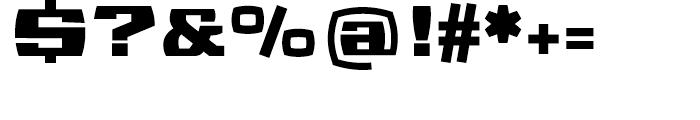 Sanos Regular Font OTHER CHARS