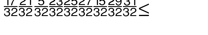 Sans Fractions Vertical Plain Font UPPERCASE