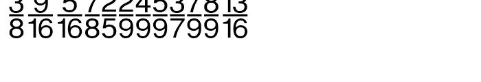 Sans Fractions Vertical Plain Font LOWERCASE