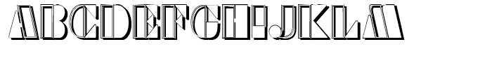 Sans Square Shadow Font UPPERCASE