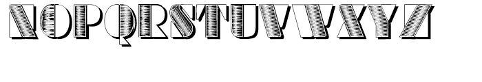 Sans Square Shadow Font LOWERCASE