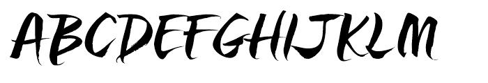 Sanscripta Heavy Font UPPERCASE